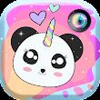 Licorne Panda Photo Autocollant Kawaii icon