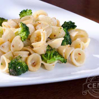 Orecchiette with Broccoli & Garlic Oil Sauce.