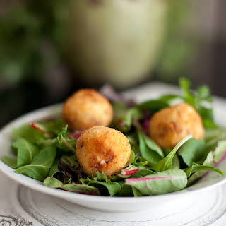 Salad with Fried Goat Cheese.