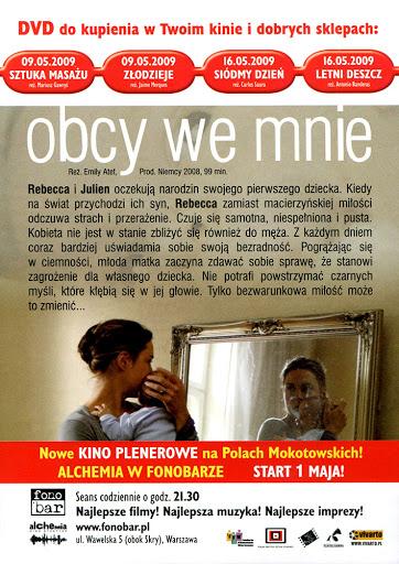 Tył ulotki filmu 'Obcy We Mnie'
