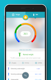 Weight tracker, BMI Calculator - náhled