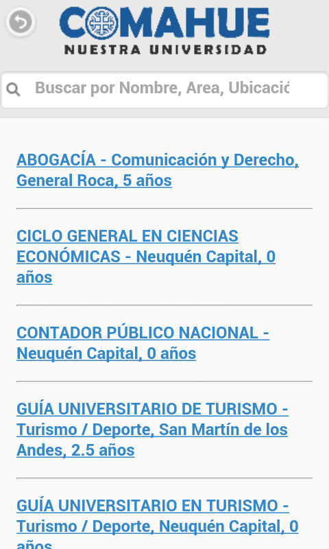 Comahue  Nuestra Universidad- screenshot