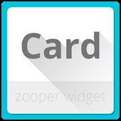 Card Zooper Widget Skin