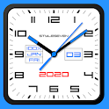 Square Analog Clock-7 icon