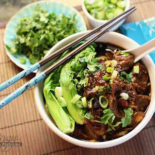 Beef & Noodles (Niu Row Mein) {Electric Pressure Cooker Recipe}.