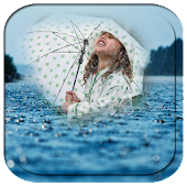 Rain photo frame effects