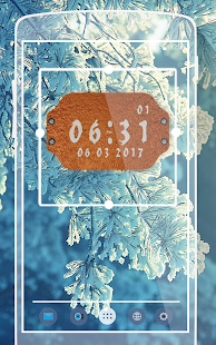 Frosted Widget Clock - náhled
