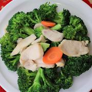 Sliced Chicken Sauteed with Seasonal Greens