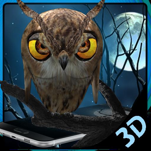 3D Vivid Night Owl Launcher