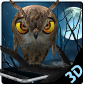 3D Vivid Night Owl Launcher