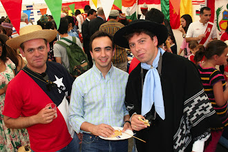 Photo: WMU students from Chile, Spain, and Argentina at International Day, July 2012.