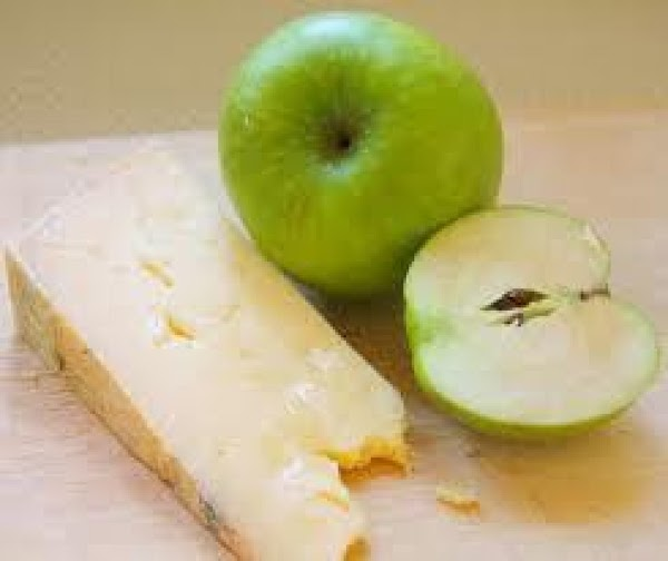 Fruit & Cheese Platter. Use different winter fruits and mix with hard cheese cubes...