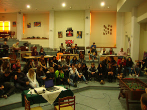 Photo: Discussion about Human Rights and their violations in the Main Hall