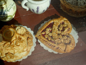 Photo: I found these beautiful treats in the window of a tea room.
