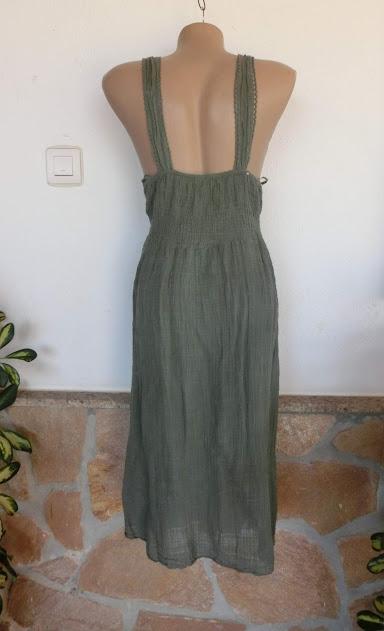 2d7d3a2cefe429 Italy Neckholder Kleid IBIZA Boho Häkelspitze Stickerei Olive ...