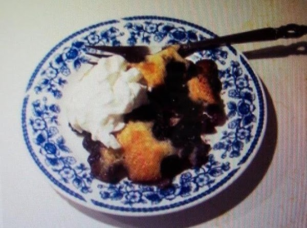 This is the same recipe I use for  my BLUEBERRYY COBBLER...on JAP. see picture #9