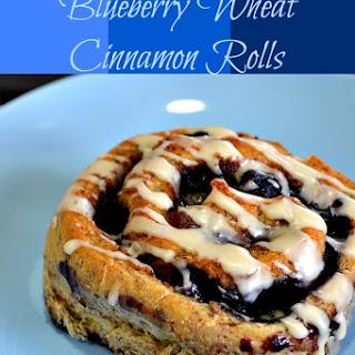Blueberry Wheat Cinnamon Rolls