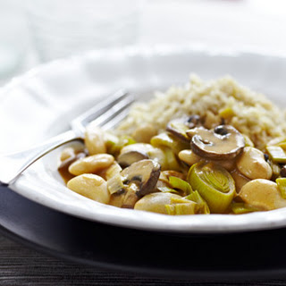 Leek And Butterbean Stroganoff