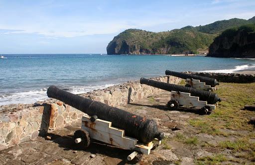 Montserrat-cannons-Little-Bay - The cannons of Little Bay on Montserrat.