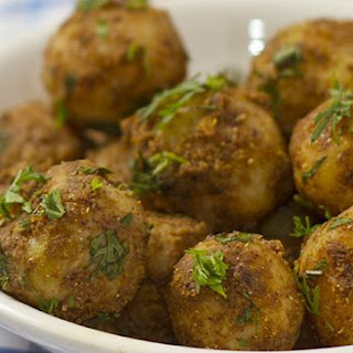 Pan Fried Baby Potatoes Indian Style.