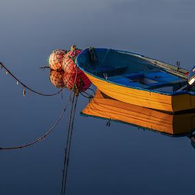 In the light of the midnight sun by Morten Pettersen - Transportation Boats ( seiltur, seiltur 2013, finnmark )