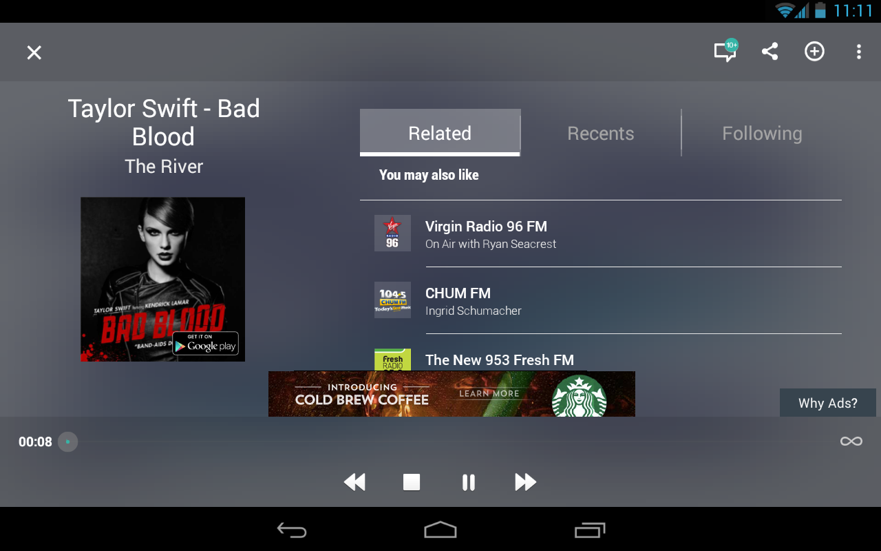 TuneIn Radio - Radio & Music (Android) reviews at Android