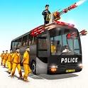 Police Bus Shooting -Police Plane Prison Transport icon
