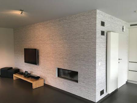 Schilder en behangwerken Rillaar - schilderen muren en plafond living , plaatsen behang