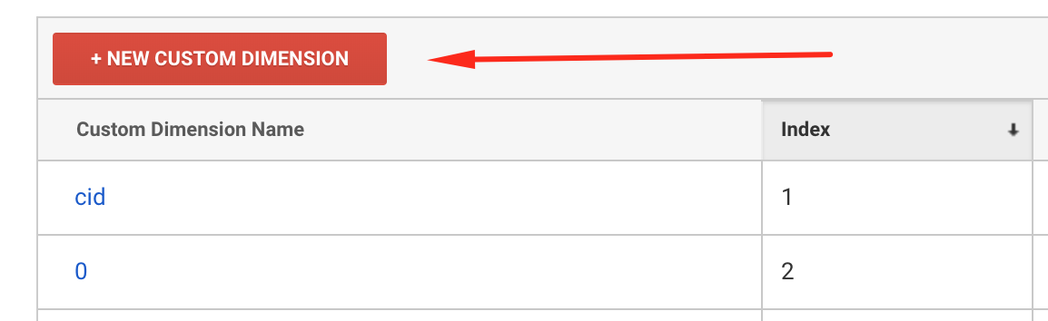 Add a variable to Google Analytics - step 2