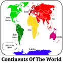 Continents of world icon