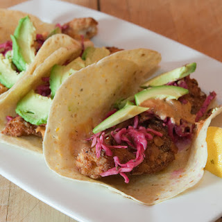 Fish Stick Tacos With Slaw
