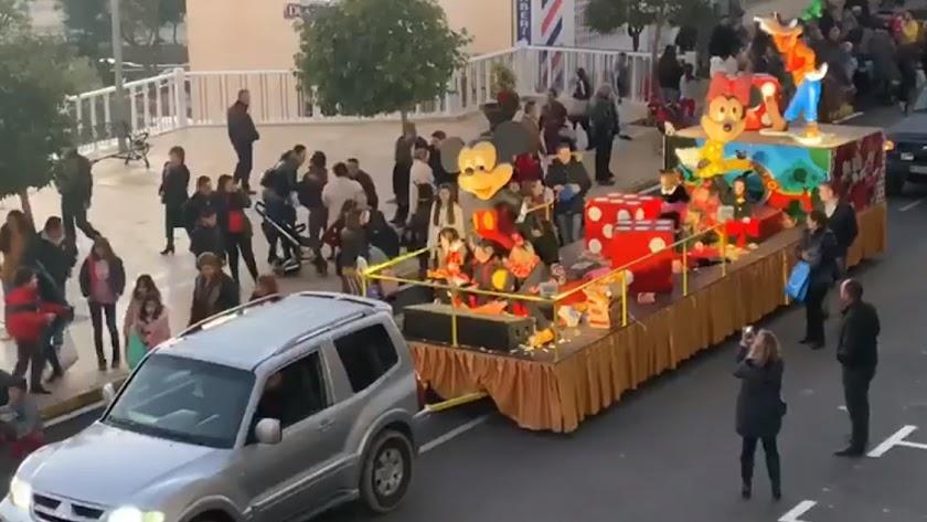 Instante de la retransmisión del Ayuntamiento de la Cabalgata de Reyes.