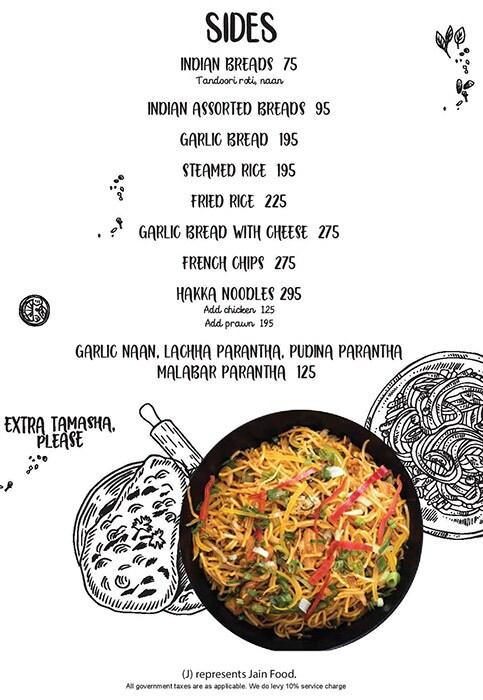 Tamasha menu 10