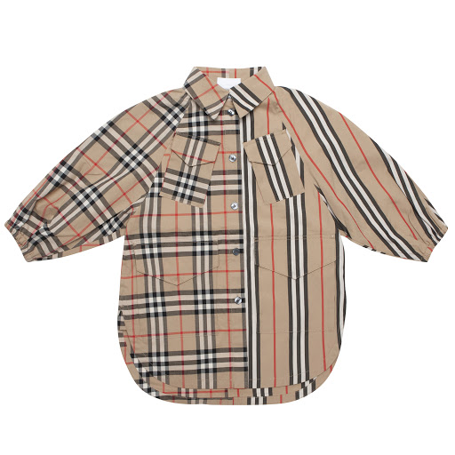 Primary image of Burberry Check & Stripe Dress