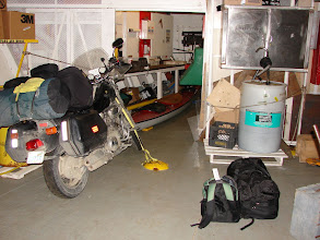 Photo: My kayak and gear stowed on the ferry.