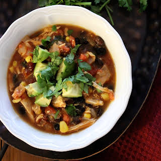 Healthy Slow-Cooker Chicken Enchilada Soup.