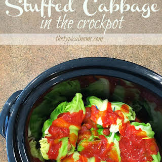 Slow Cooker Stuffed Cabbage.