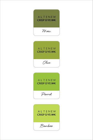 Altenew Dye Inks 4 Mini Cube Set - Tropical Forest