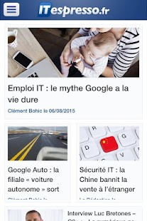 Actualité Tech - ITespresso.fr- screenshot thumbnail