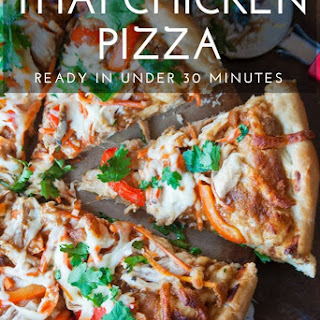 Thai Chicken Pizza #ChickenDotCa