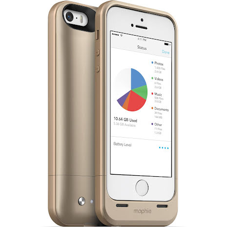 Mophie batteriskal 32GB Space Pack for iPhone 5/5s/SE