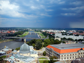 Photo: View of the city from Dresden Frauenkirche - thunderclouds promising