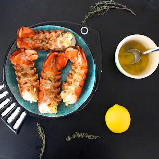 Lemon Butter Grilled Lobster Tails.