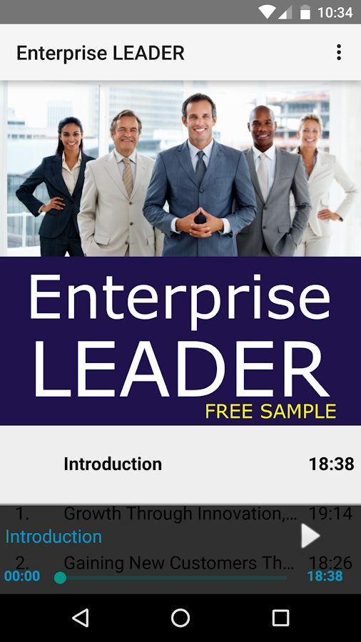 Enterprise LEADER: Sample- screenshot