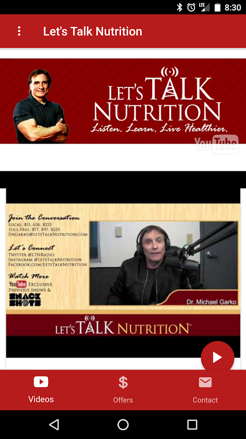 Let's Talk Nutrition- screenshot
