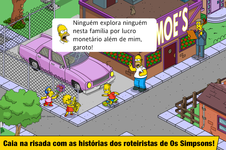 The Simpsons™: Tapped Out: captura de tela