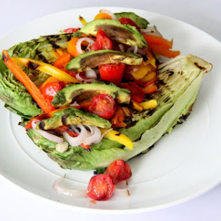Grilled Romaine and Pepper Salad.