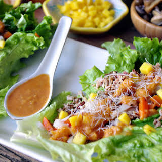 Smoked Chicken Lettuce Wraps.
