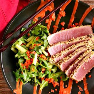 Sesame Crusted Ahi Tuna  Recipe