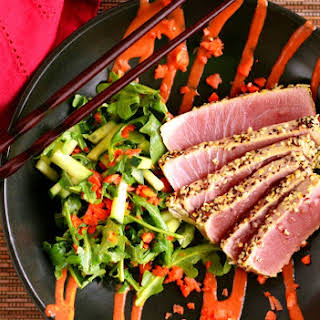 Sesame Crusted Ahi Tuna .